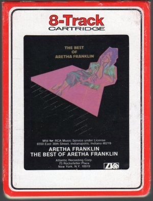 Aretha Franklin - The Best Of Aretha Franklin 1984 RCA 8-track tape