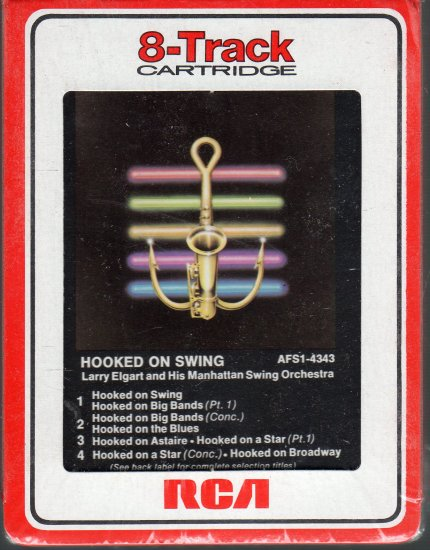 Larry Elgart and His Manhattan  Orchestra - Hooked On Swing 1982 RARE Sealed RCA 8-track tape