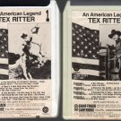 Tex Ritter - An American Legend Tapes 1 & 2 Capitol 8-track tape