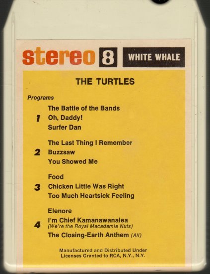 The Turtles - The Battle Of The Bands (White Whale) 8-track tape