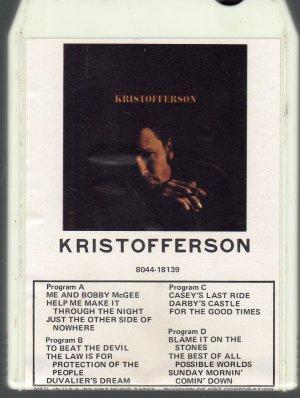 Kris Kristofferson - Kristofferson 8-track tape