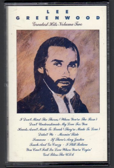 Lee Greenwood - Greatest Hits Vol 2 Cassette Tape