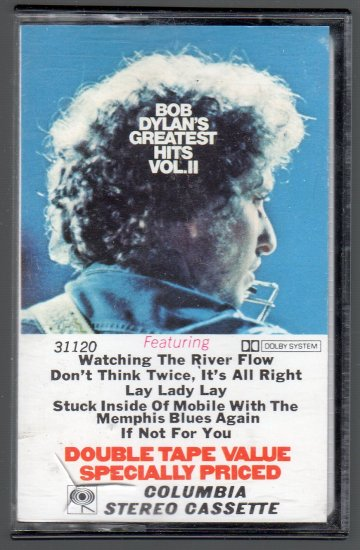 Bob Dylan - Greatest Hits Vol II Cassette Tape