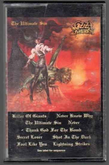Ozzy Osbourne - The Ultimate Sin Cassette Tape