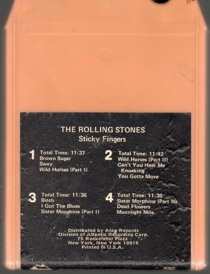 The Rolling Stones - Sticky Fingers A39 8-track tape