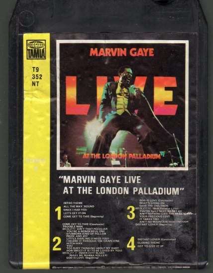 Marvin Gaye - LIVE At The London Palladium 8-track tape