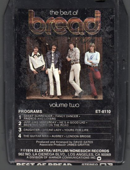 Bread - The Best Of Bread Vol II 8-track tape