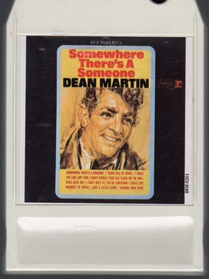 Dean Martin - Somewhere There's A Someone 1966 LEAR Reprise 8-track tape