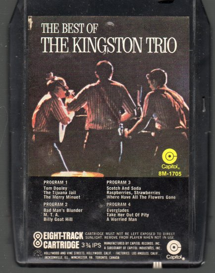 The Kingston Trio - The Best Of ( Capitol ) 8-track tape