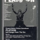 Platoon - Original Motion Picture Soundtrack Cassette Tape