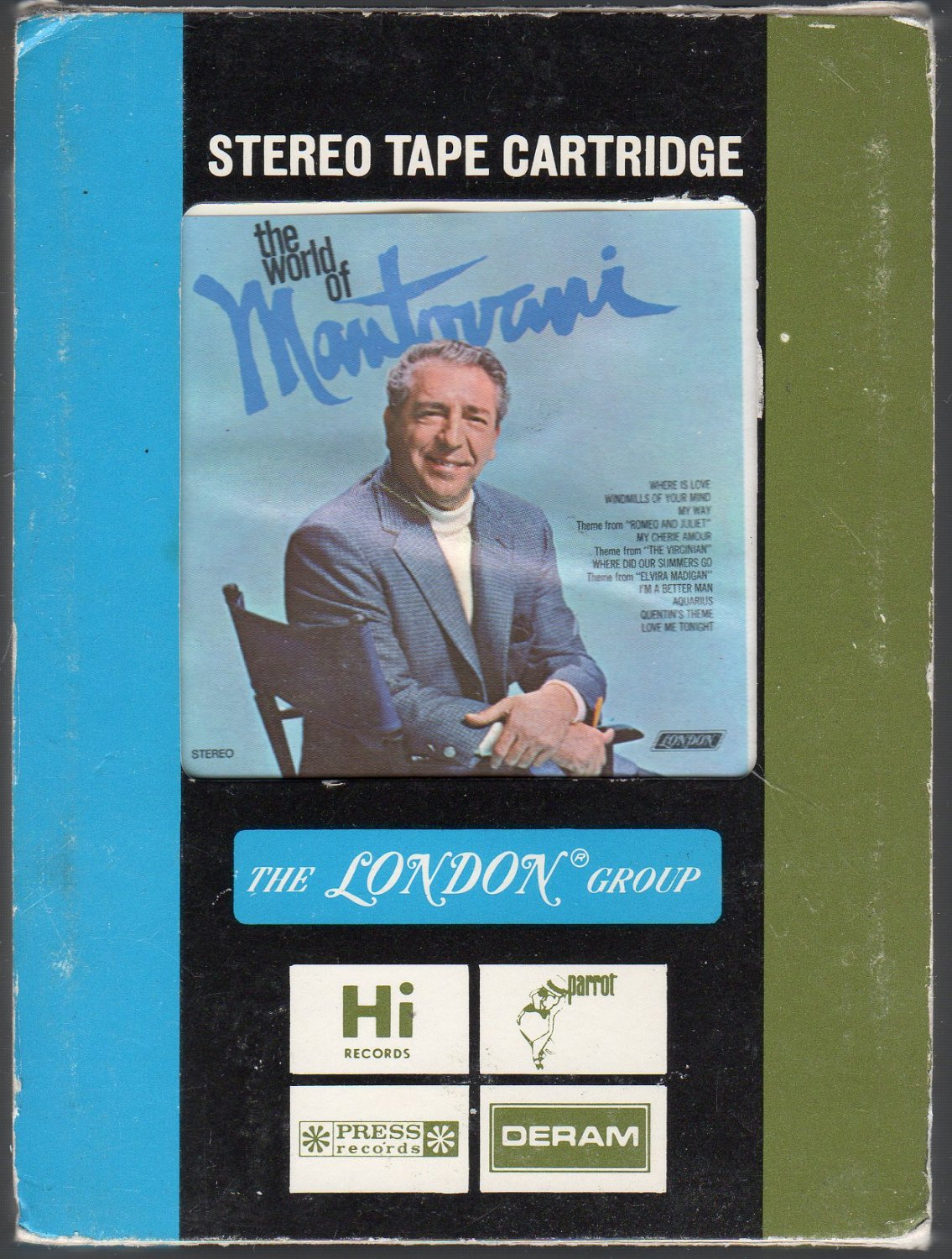 Mantovani And His Orchestra - The World Of Mantovani Ampex 8-track tape