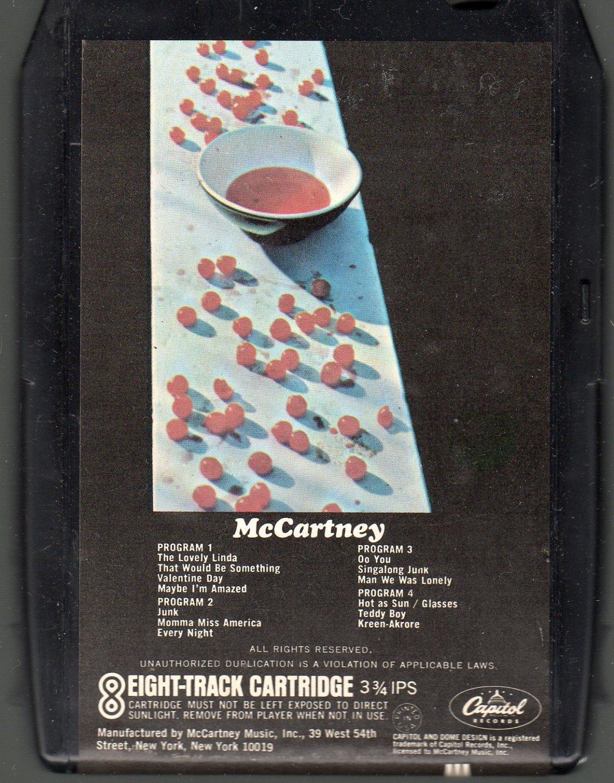 Paul McCartney - McCartney 1970 Solo Debut CAPITOL A15 8-track tape