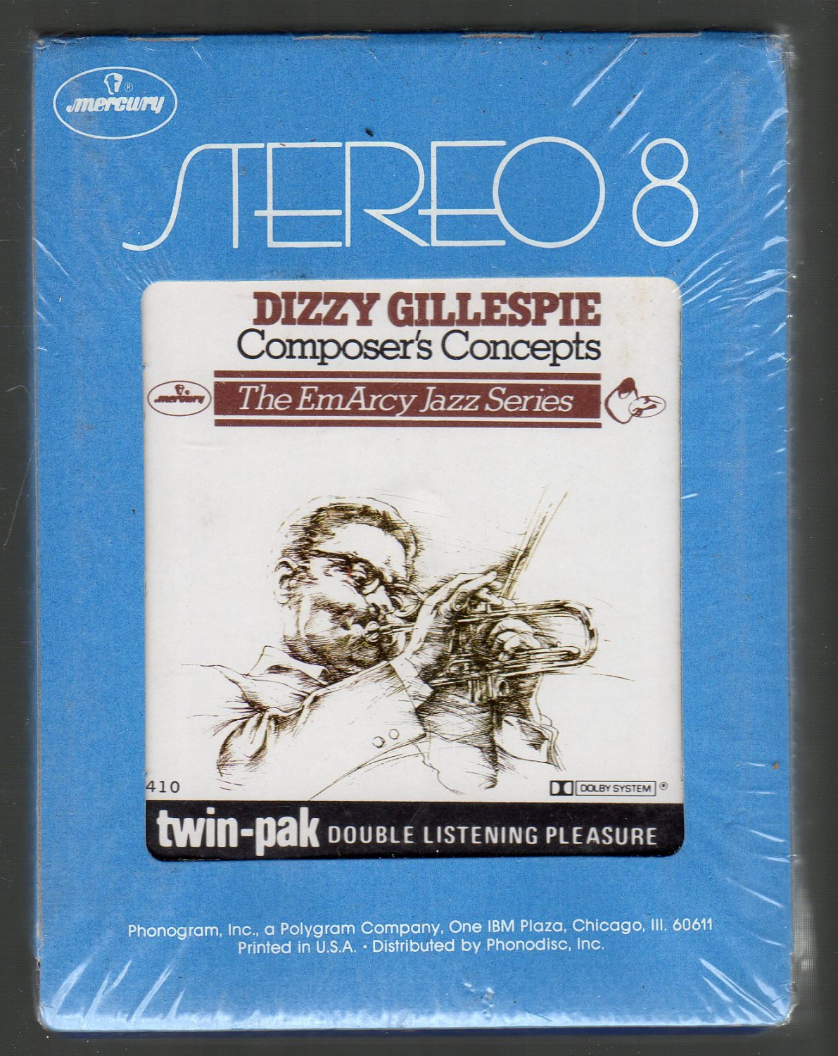 Dizzy Gillespie - Composer's Concepts Sealed 8-track tape
