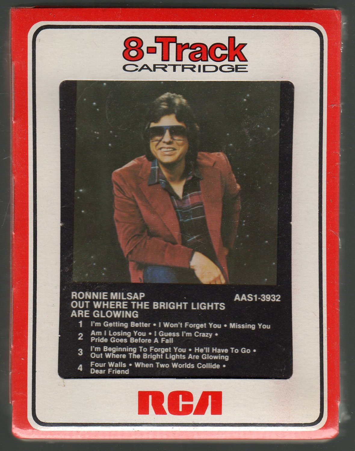 Ronnie Milsap - Out Where The Bright Lights Are Glowing RCA Sealed 8-track tape