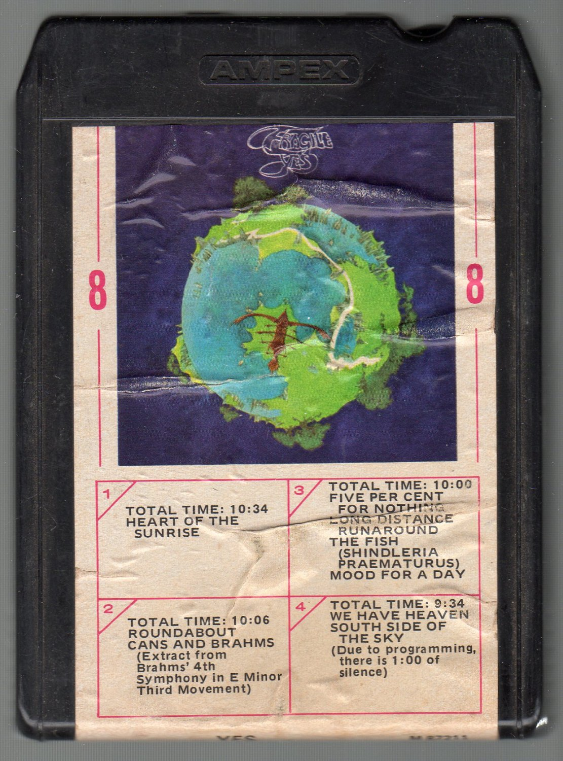 Yes - Fragile Ampex 8-track tape