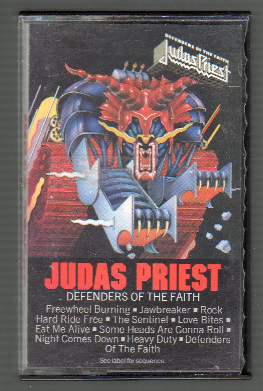Judas Priest - Defenders Of The Faith Cassette Tape