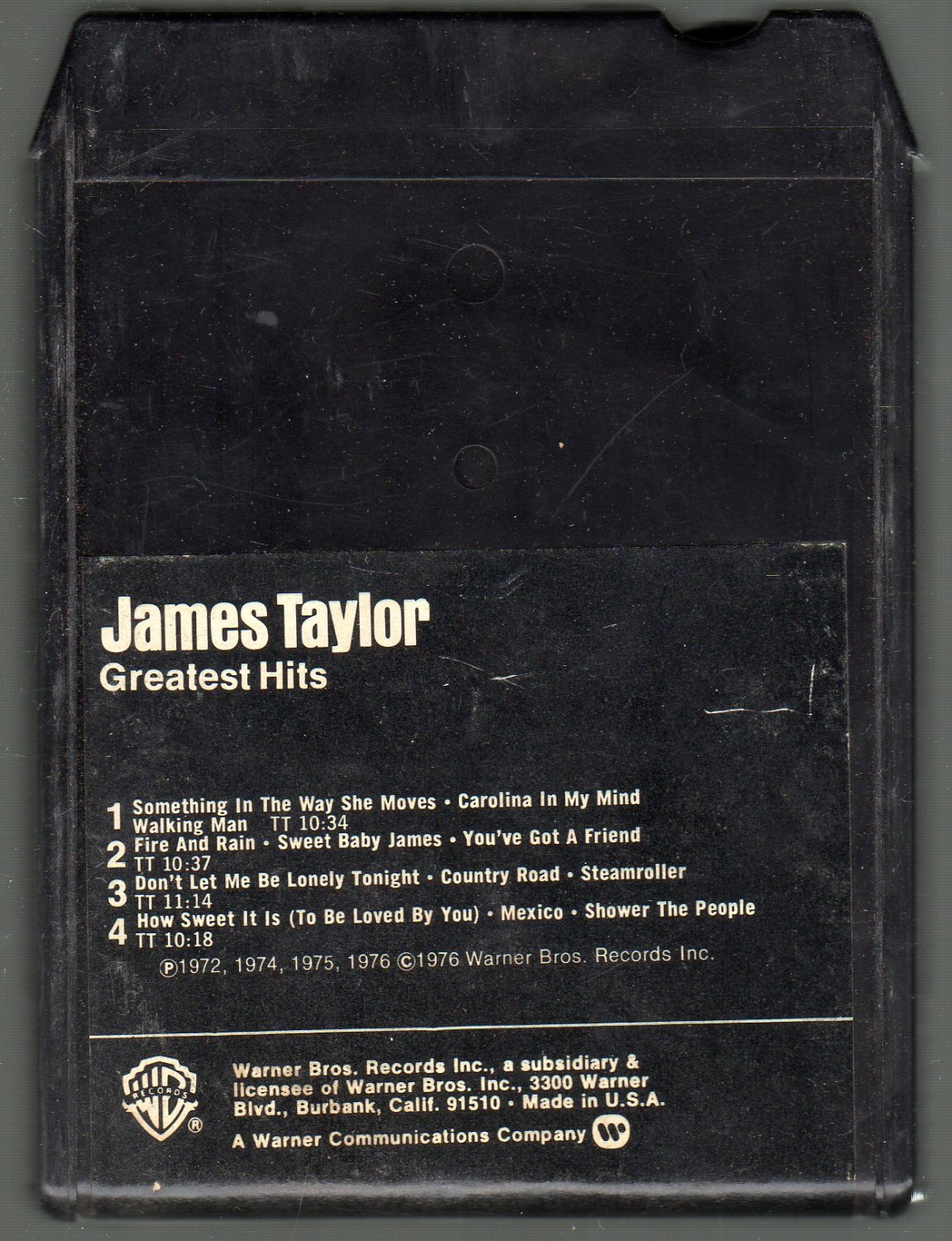 James Taylor - Greatest Hits SOLD 8-track tape