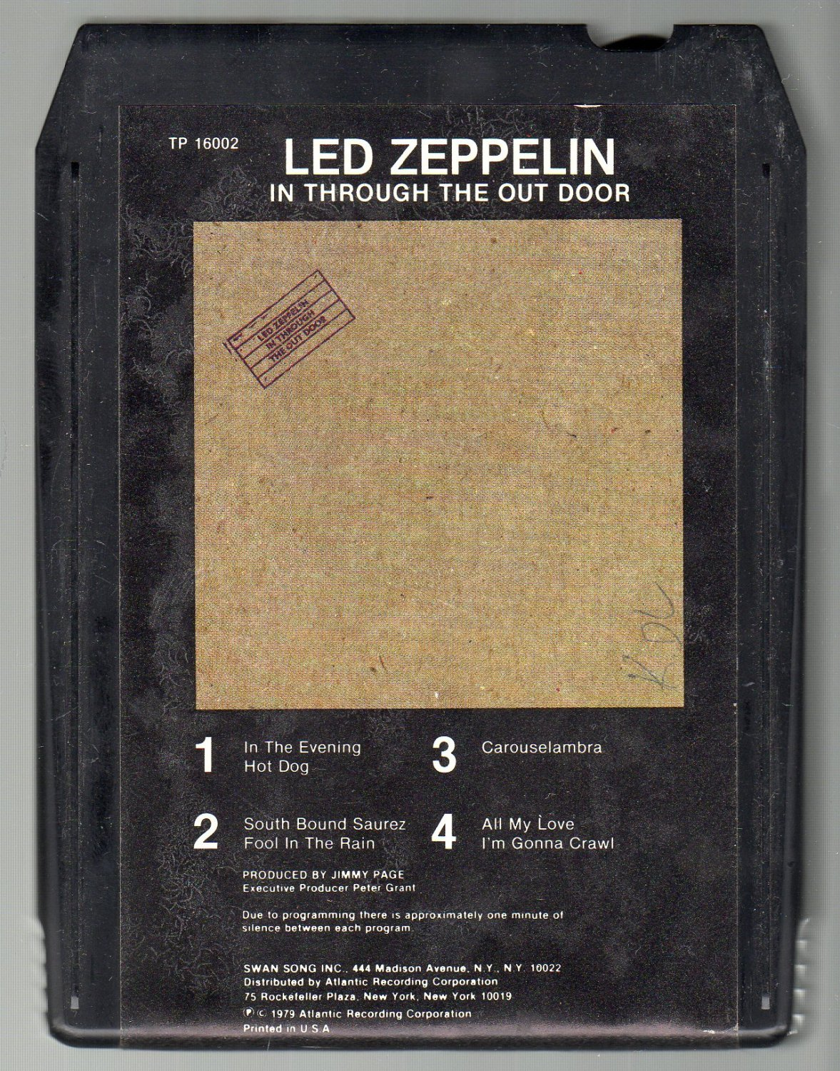 Led Zeppelin - In Through The Out Door SOLD 8-track tape