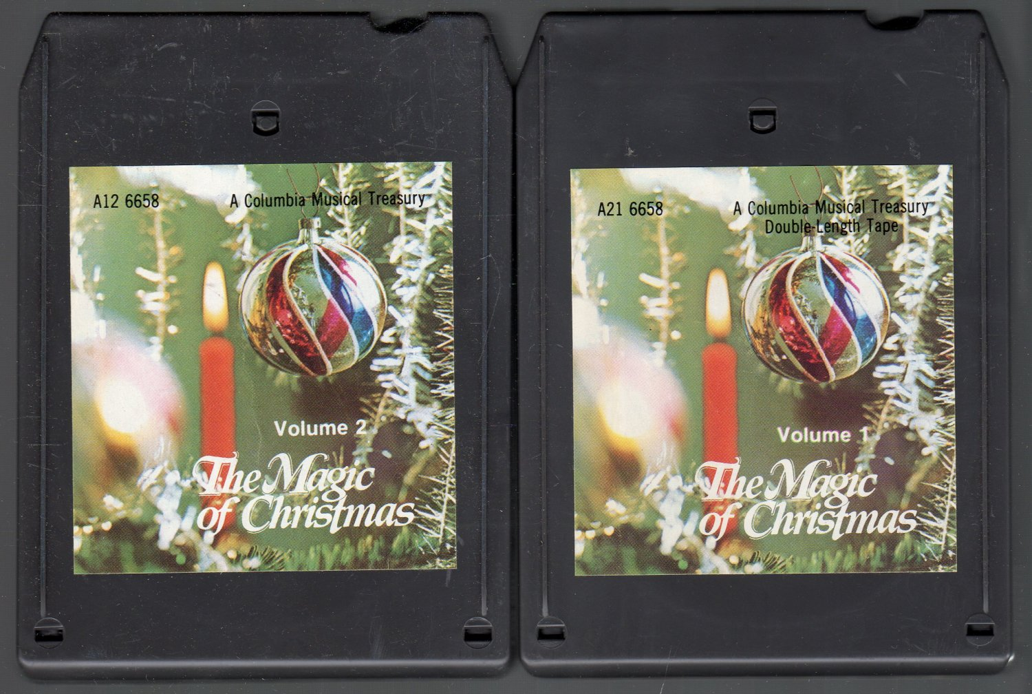 The Magic Of Christmas - Various Artists Vol 1 & 2 Double 8-track tape