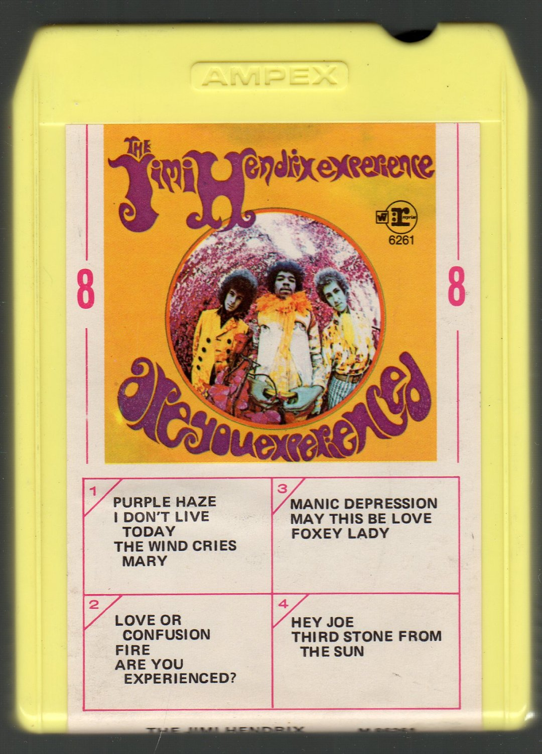 The Jimi Hendrix Experience - Are You Experienced 1967  SOLD Debut Reprise Ampex 8-track tape