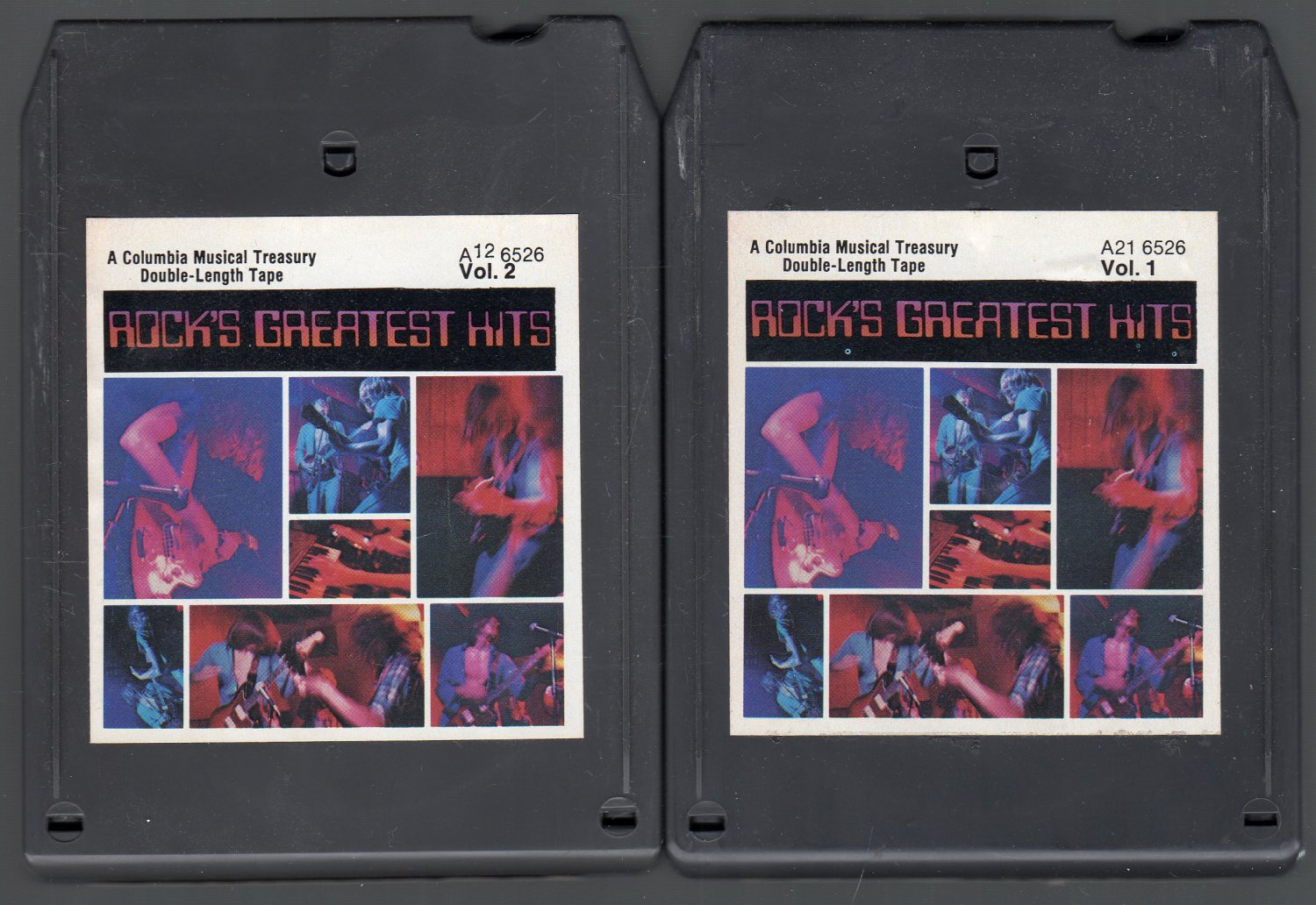 Rock's Greatest Hits - Columbia House Various Vol 1 & 2 SOLD 8-track tape