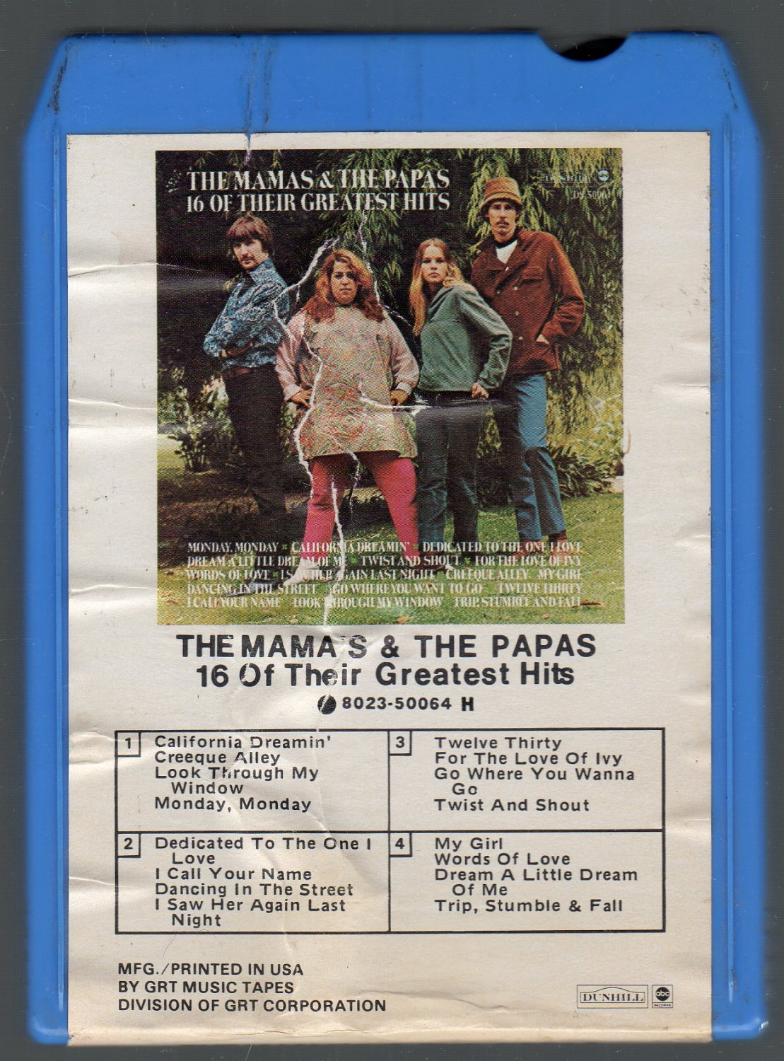 The Mama's & The Papas - 16 Of Their Greatest Hits 8-track tape