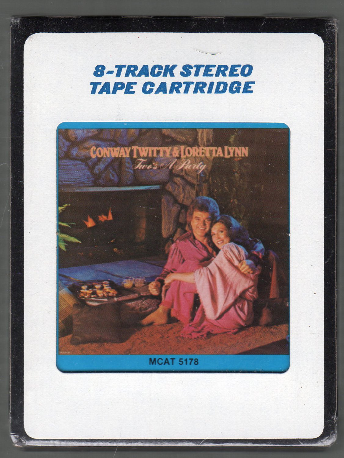 Conway Twitty & Loretta Lynn - Two's A Party 1981 CRC Sealed 8-track tape