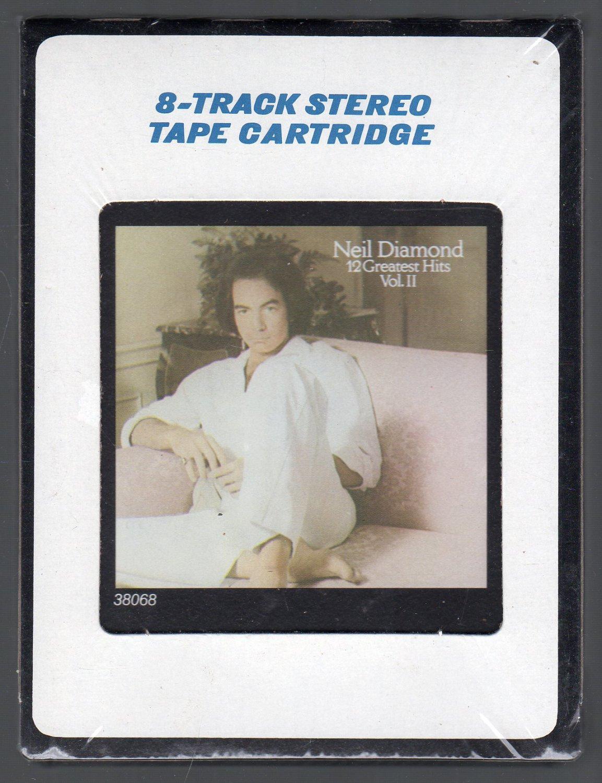 Neil Diamond - 12 Greatest Hits Vol II 1982 SOLD CRC Sealed 8-track tape