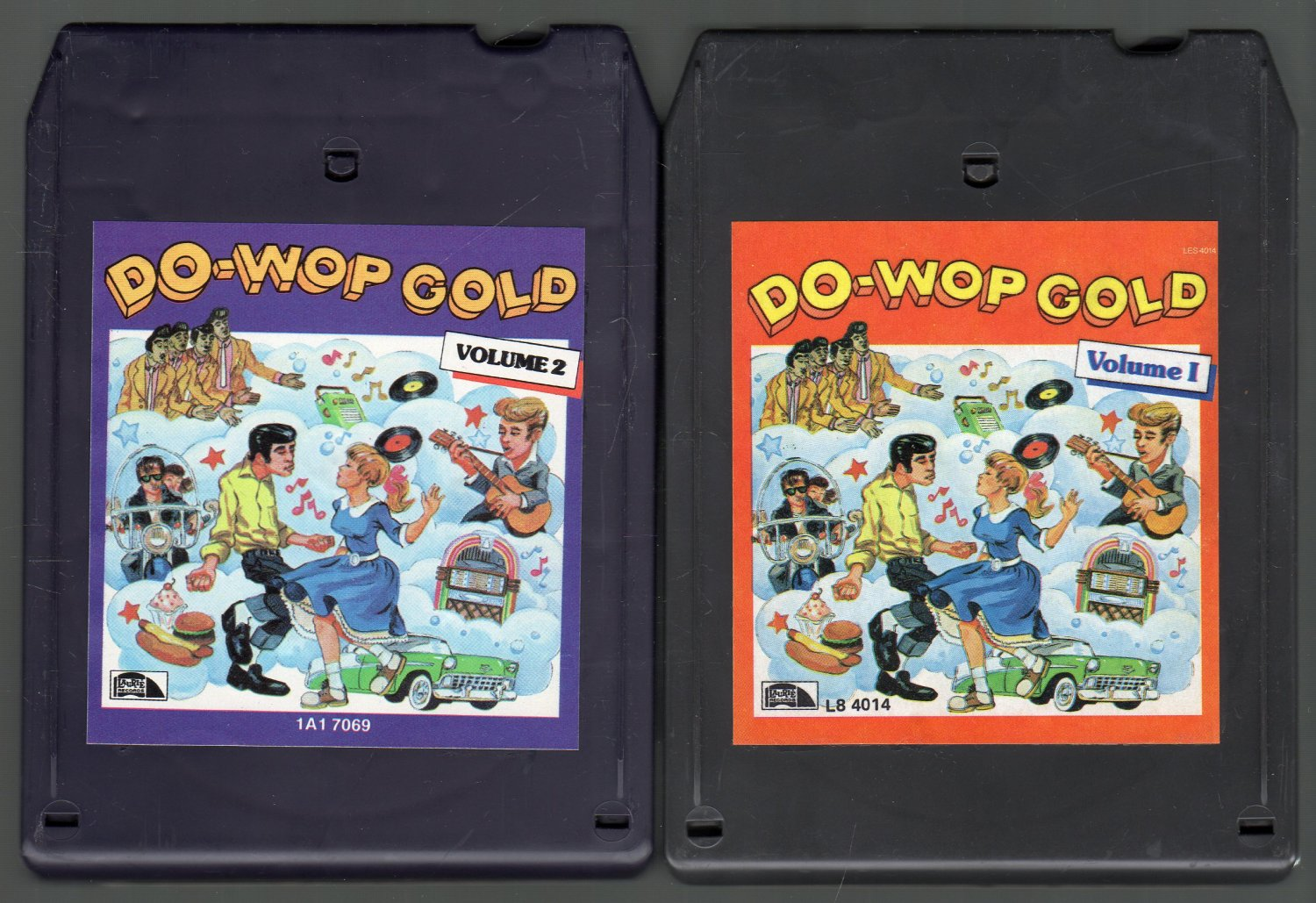 Do-Wop Gold - Various Vol 1 & 2 CRC LAURIE Double 8-track tape