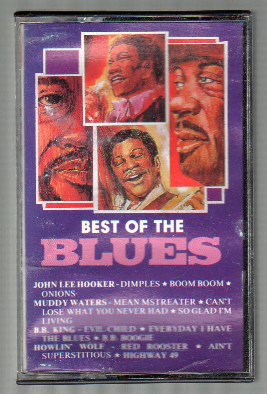 Best Of The Blues - Hooker, Waters, King And Wolf RARE Cassette Tape