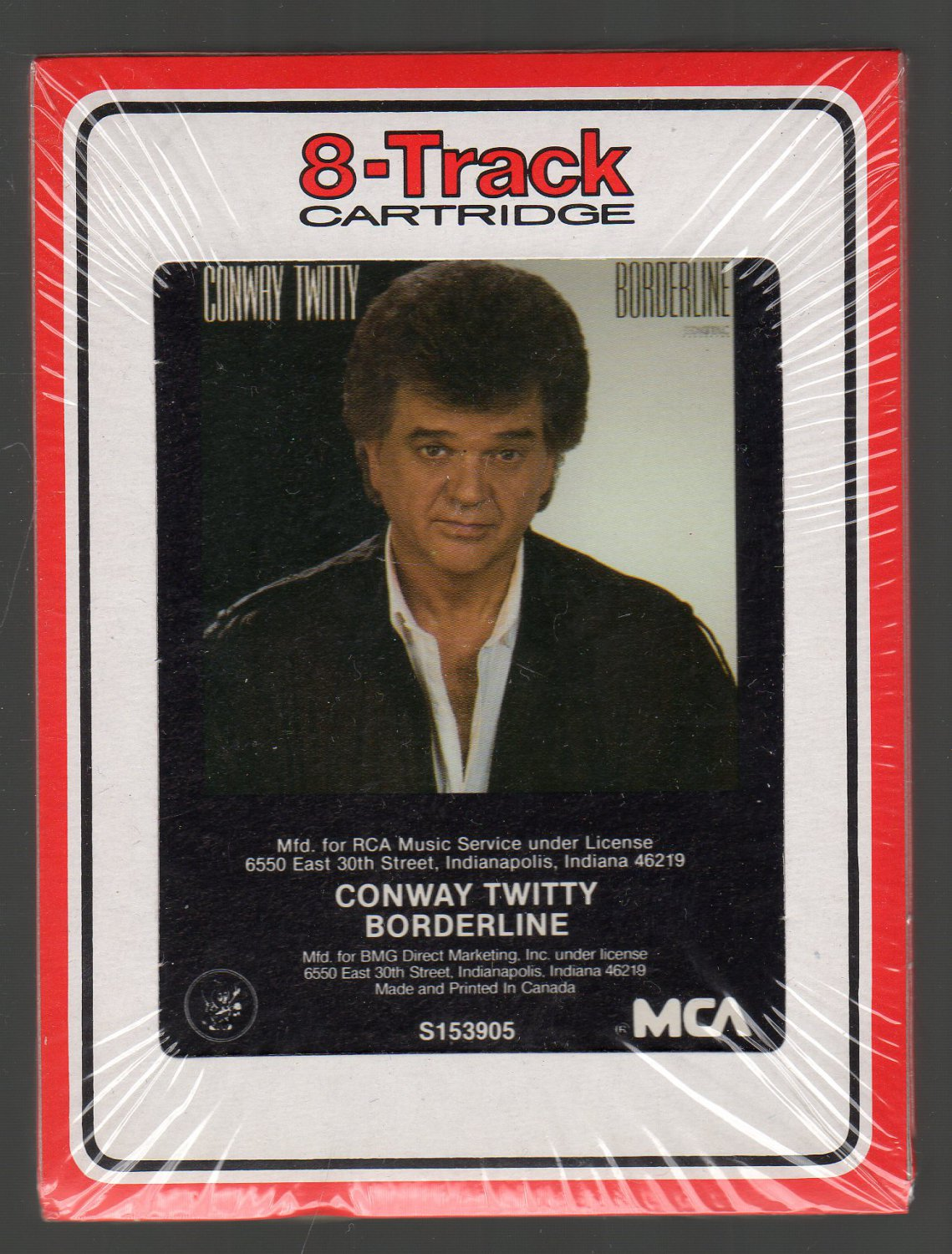 Conway Twitty - Borderline 1987 RCA Sealed 8-track tape