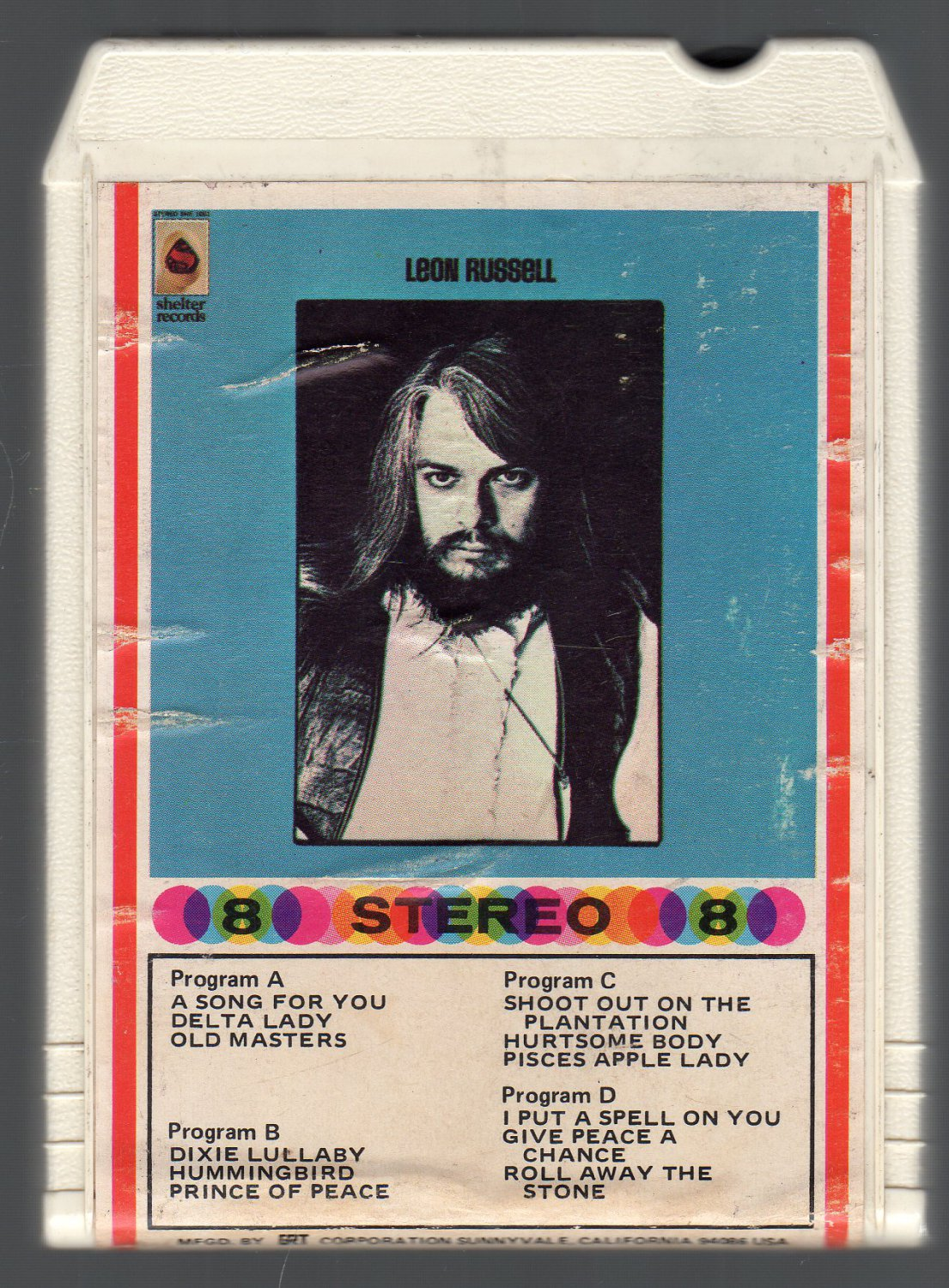 Leon Russell - Leon Russell 1970 Debut GRT SHELTER A1 8-track tape