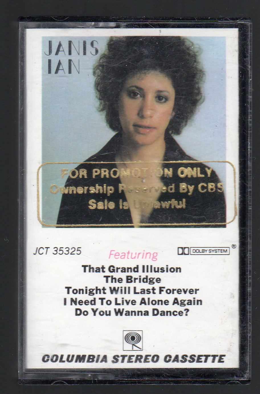 Janis Ian - Janis Ian PROMO RARE Cassette Tape