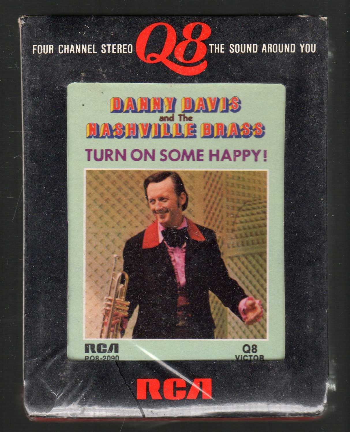 Danny Davis And The Nashville Brass - Turn On Some Happy RCA Sealed Quadraphonic 8-track tape