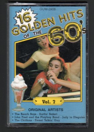 16 Golden Hits Of The 60's Vol 7 - Various Rock Cassette Tape