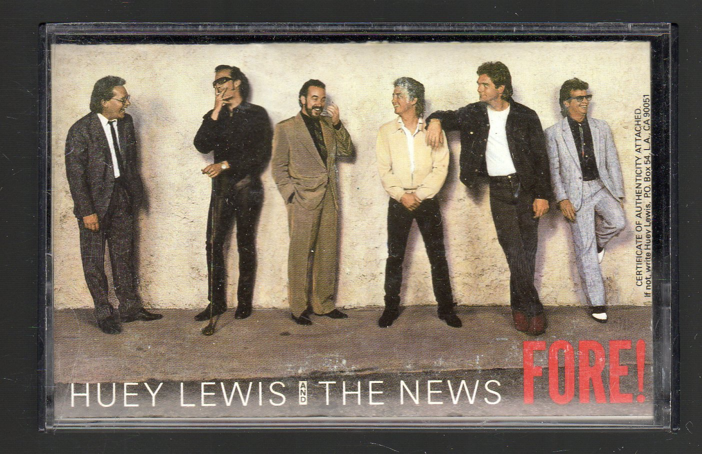 Huey Lewis And The News - Fore Cassette Tape