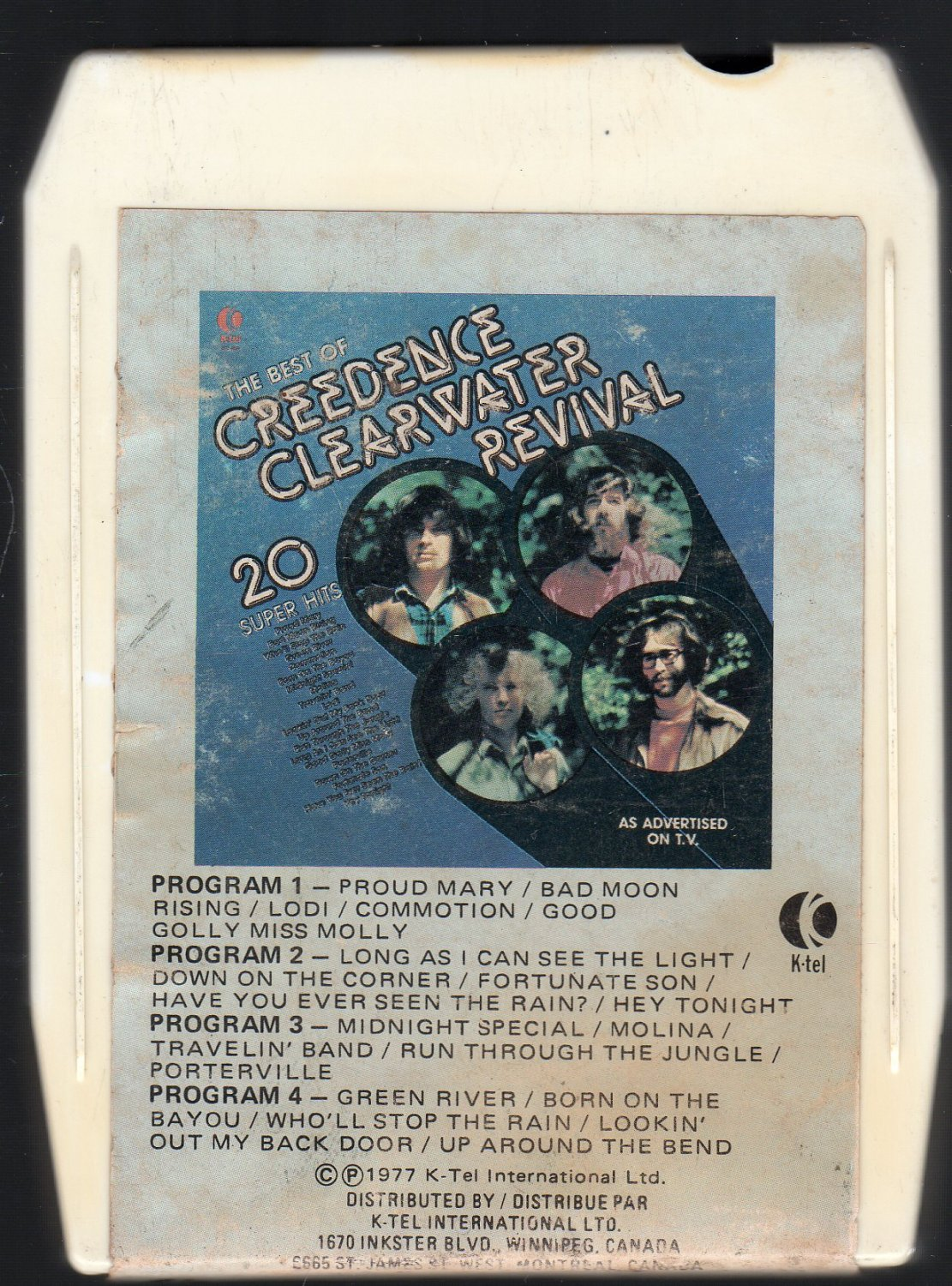 Creedence Clearwater Revival - 20 Super Hits The Best Of (K-TEL) 8-track tape
