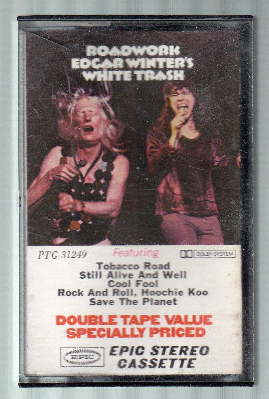 Edgar Winter's White Trash - Roadwork RARE 1972 Cassette Tape