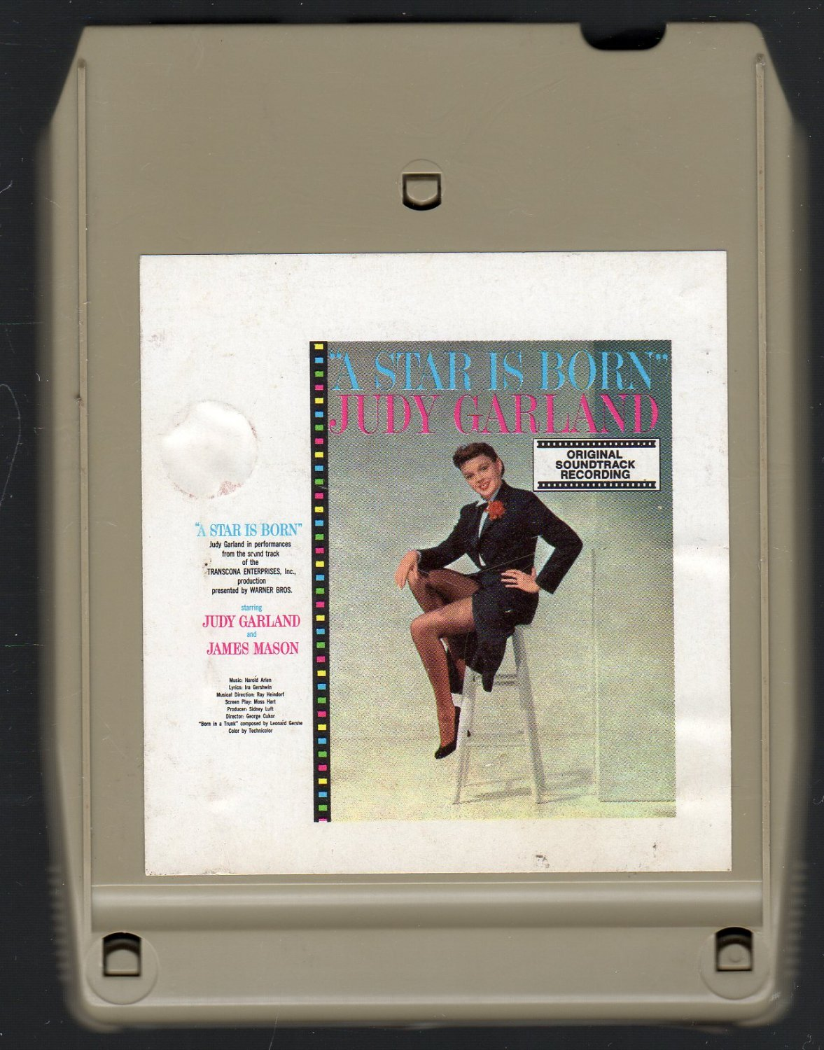 Judy Garland - A Star Is Born From Soundtrack 8-track tape