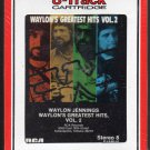 Waylon Jennings - Waylon's Greatest Hits Vol 2 1984 RCA Sealed 8-track tape