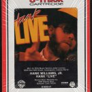 "Hank Williams Jr. - Hank ""LIVE"" 1987 RCA Sealed 8-track tape"