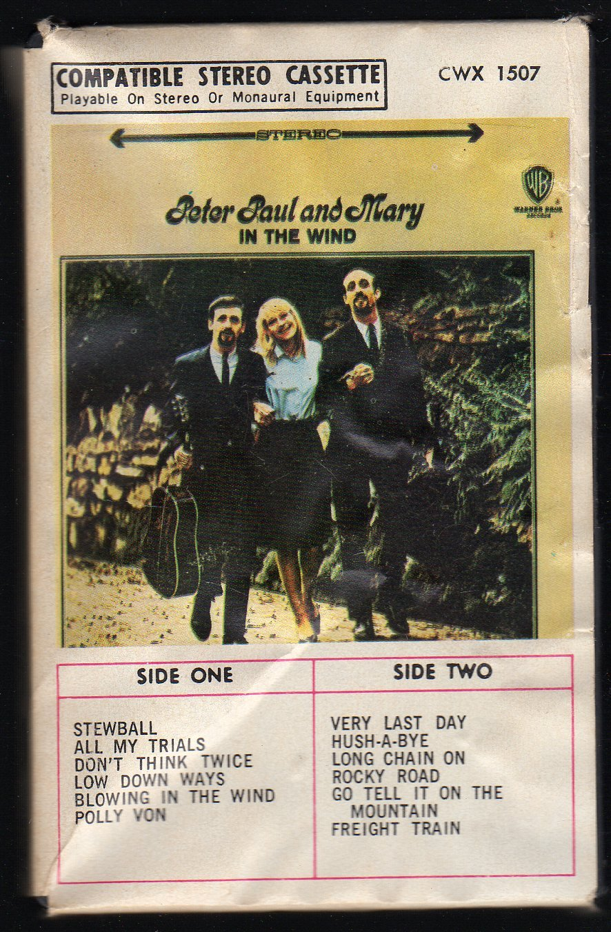 Peter, Paul & Mary - In The Wind 1963 WB Ampex Cassette Tape