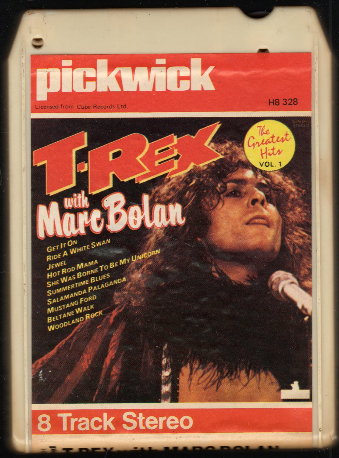 T-REX with Marc Bolan - The Greatest Hits Vol 1 PICKWICK 8-track tape