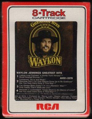 Waylon Jennings - Greatest Hits 1979 RCA Sealed 8-track tape