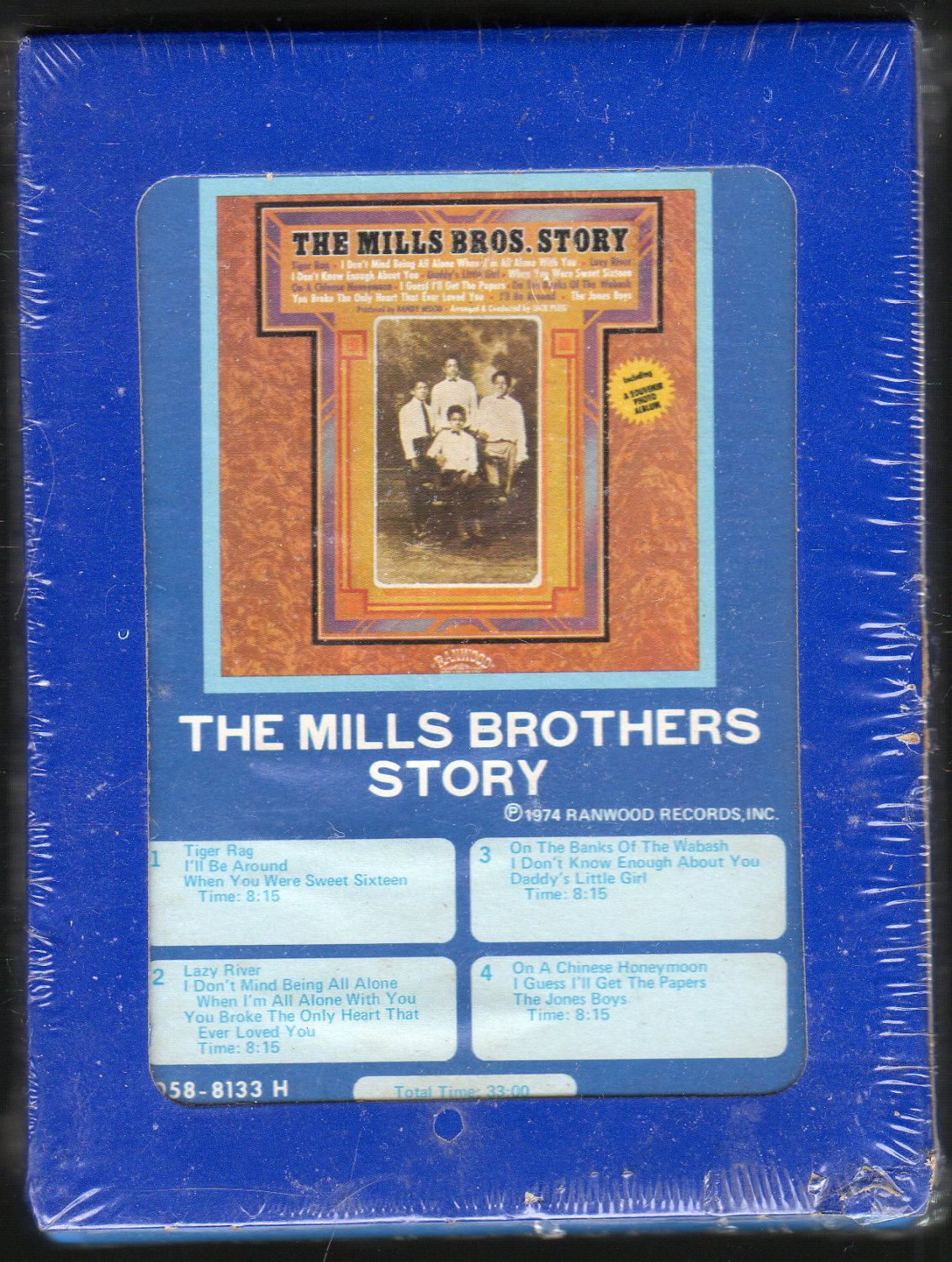 The Mills Brothers - The Mills Brothers Story GRT Sealed 8-track tape