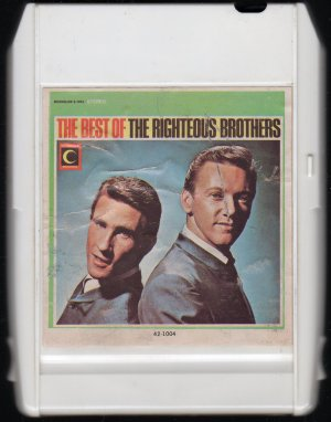 The Righteous Brothers - The Best Of The Righteous Brothers 1966 MOONGLOW 8-track tape