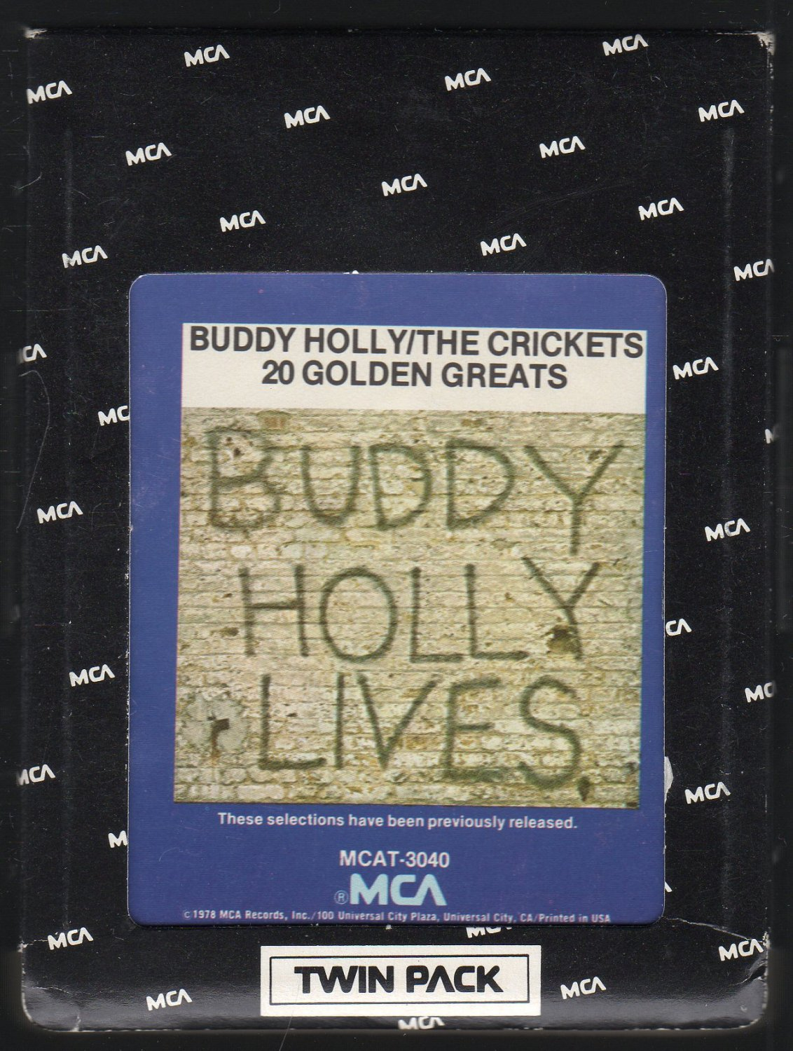 Buddy Holly / The Crickets - Buddy Holly Lives 20 Golden Greats MCA 8-track tape