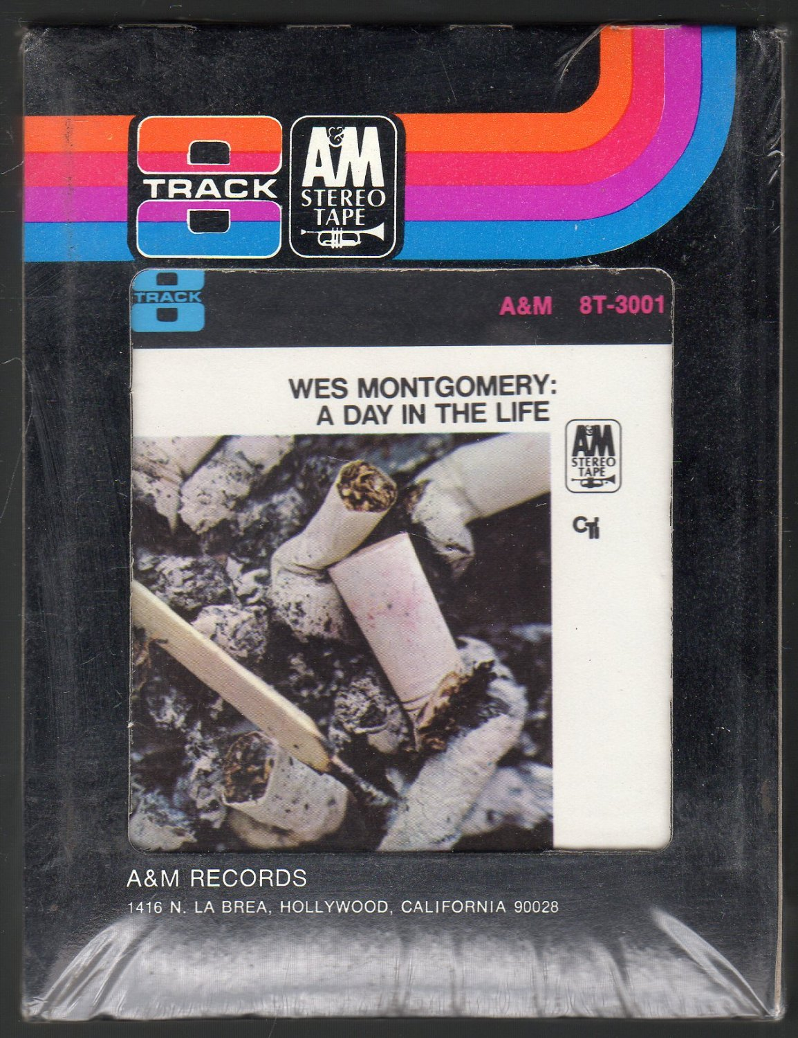 Wes Montgomery - A Day In The Life A&M Sealed 8-track tape