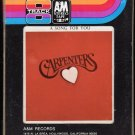 The Carpenters - A Song For You 1972 A&M T2 8-track tape
