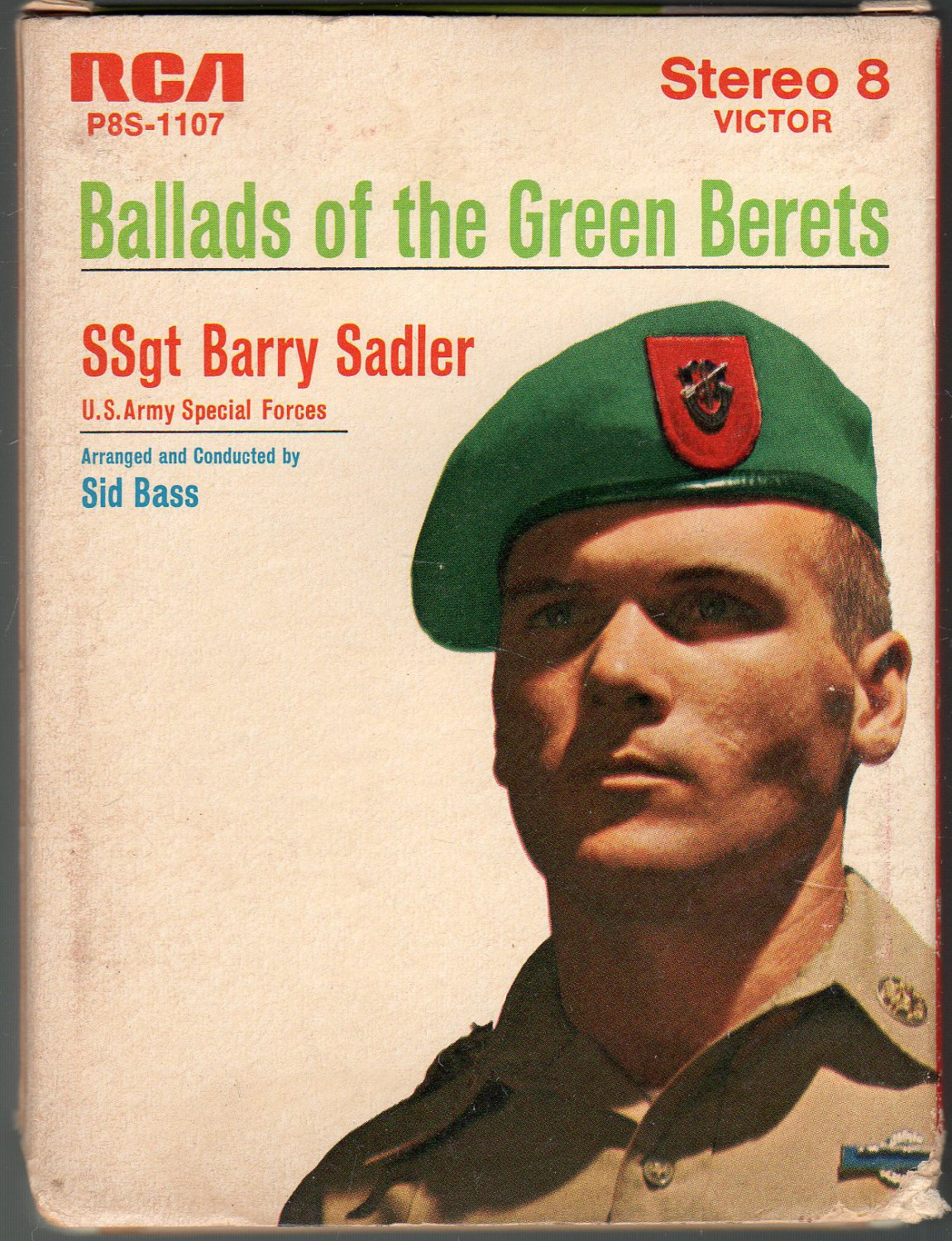 SSg Barry Sadler - Ballads Of The Green Berets 1966 RCA T7 8-track tape